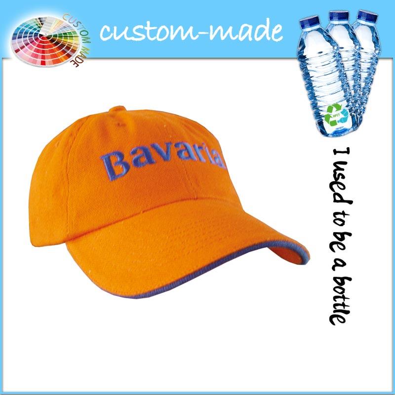baseball cap eco van gerecyclede PET-flessen - RPET- custom-made