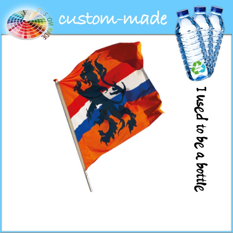 ECO advertising flag from recycled PET bottles | custom-made.